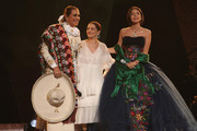 Aida Cuevas, Natalia Lafourcade and Ángela Aguilar perform onstage at the 61st Annual GRAMMY Awards Premiere Ceremony at Microsoft Theater on February 10, 2019 in Los Angeles, California.