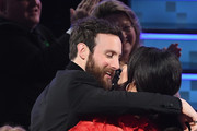 Ruston Kelly (L) and Kacey Musgraves embrace during the 61st Annual GRAMMY Awards at Staples Center on February 10, 2019 in Los Angeles, California.