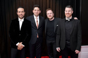 (L-R) Pete Wentz, Joe Trohman, Patrick Stump, and Andy Hurley of Fall Out Boy attend the 61st Annual GRAMMY Awards at Staples Center on February 10, 2019 in Los Angeles, California.