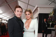 Daryl Sabara (L) and Meghan Trainor attend the 61st Annual GRAMMY Awards at Staples Center on February 10, 2019 in Los Angeles, California.