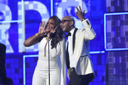 Eve and Swizz Beatz speak onstage during the 61st Annual GRAMMY Awards at Staples Center on February 10, 2019 in Los Angeles, California.