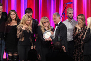 (L-R) Singers Charles Kelley, Hillary Scott, Dave Haywood, Shakira, Del Bryant, BMI President, singers Adam Levine of Maroon 5, Sheryl Crow and Barbara Cane, BMI VP & General Manager, Writer/Publisher Relations present the 2014 BMI Icon Award to singer-songwriter Stevie Nicks (center) onstage at the 62nd annual BMI Pop Awards at the Regent Beverly Wilshire Hotel on May 13, 2014 in Beverly Hills, California.