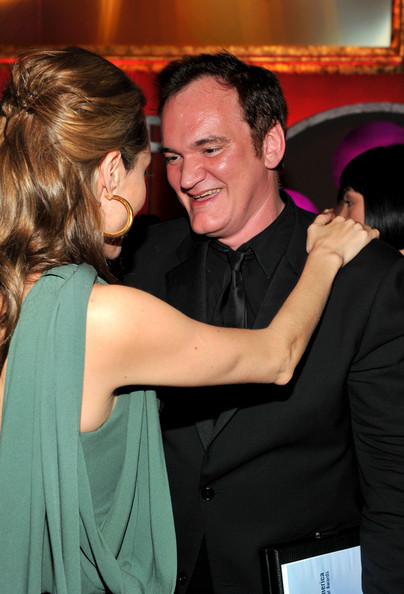 shes really comfortable with quentin tarantinos shoulder