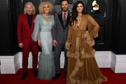 (L-R) Philip Sweet, Kimberly Schlapman, Jimi Westbrook, and Karen Fairchild of music group Little Big Town attend the 62nd Annual GRAMMY Awards at STAPLES Center on January 26, 2020 in Los Angeles, California.