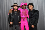 (L-R) Billy Ray Cyrus, Lil Nas X, and YoungKio attend the 62nd Annual GRAMMY Awards at STAPLES Center on January 26, 2020 in Los Angeles, California.