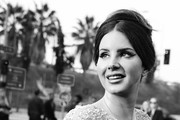 (This image has been converted to black & white - a color version also exists) Lana Del Rey attends the 62nd Annual GRAMMY Awards at STAPLES Center on January 26, 2020 in Los Angeles, California.