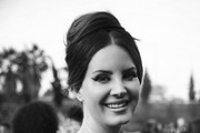 (This image has been converted to black & white) Lana Del Rey attends the 62nd Annual GRAMMY Awards at STAPLES Center on January 26, 2020 in Los Angeles, California.