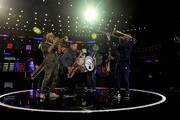 Trombone Shorty (R) with Preservation Hall rehearses onstage for the 62nd Annual GRAMMY Awards at STAPLES Center on January 24, 2020 in Los Angeles, California.