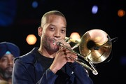 Trombone Shorty rehearses onstage for the 62nd Annual GRAMMY Awards at STAPLES Center on January 24, 2020 in Los Angeles, California.