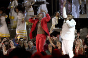 (L-R) YG, John Legend and DJ Khaled perform onstage during the 62nd Annual GRAMMY Awards at Staples Center on January 26, 2020 in Los Angeles, California.