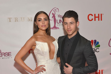 Nick Jonas and Olivia Culpo at the Miss Universe Pageant