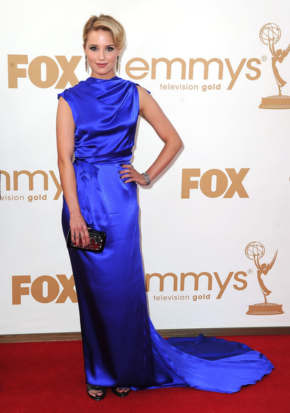 Actress Dianna Agron arrives at the 63rd Annual Primetime Emmy Awards held at Nokia Theatre L.A. LIVE on September 18, 2011 in Los Angeles, California.