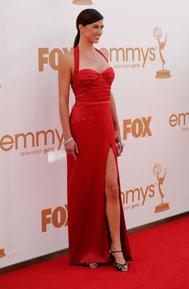 Actress Adrianne Palicki arrives at the 63rd Annual Primetime Emmy Awards held at Nokia Theatre L.A. LIVE on September 18, 2011 in Los Angeles, California.