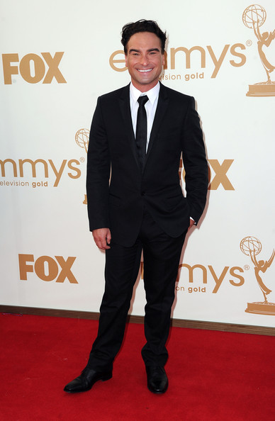 Actor Johnny Galecki arrives at the 63rd Annual Primetime Emmy Awards held at Nokia Theatre L.A. LIVE on September 18, 2011 in Los Angeles, California.