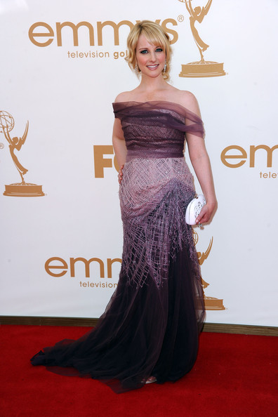 Actress Melissa Rauch arrives at the 63rd Annual Primetime Emmy Awards held at Nokia Theatre L.A. LIVE on September 18, 2011 in Los Angeles, California.