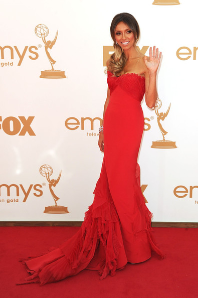 TV personality Giuliana Rancic arrives at the 63rd Annual Primetime Emmy Awards held at Nokia Theatre L.A. LIVE on September 18, 2011 in Los Angeles, California.