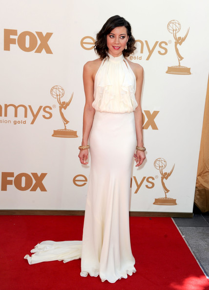 Aubrey Plaza arrives at the 63rd Annual Primetime Emmy Awards held at Nokia Theatre L.A. LIVE on September 18, 2011 in Los Angeles, California.