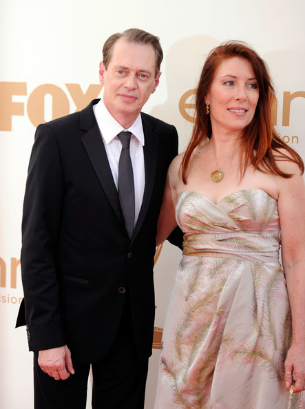 Actor Steve Buscemi (L) and Jo Andres arrives at the 63rd Annual Primetime Emmy Awards held at Nokia Theatre L.A. LIVE on September 18, 2011 in Los Angeles, California.