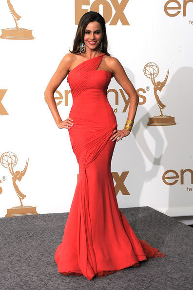 Actress Sofia Vergara of 'Modern Family' poses in the press room after 'Modern Family' wins Outstanding Comedy Series during the 63rd Annual Primetime Emmy Awards held at Nokia Theatre L.A. LIVE on September 18, 2011 in Los Angeles, California.