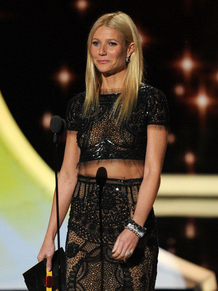 Actress Gwyneth Paltrow speaks onstage during the 63rd Annual Primetime Emmy Awards held at Nokia Theatre L.A. LIVE on September 18, 2011 in Los Angeles, California.
