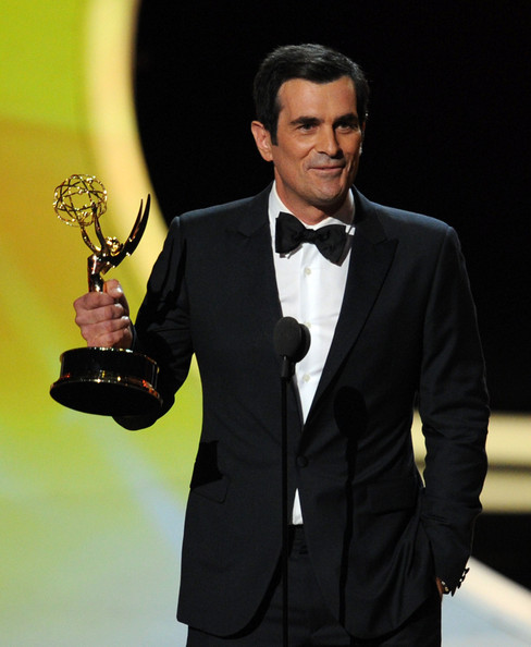 Actor Ty Burrell accepts the Outstanding Supporting Actor in a Comedy Series award onstage during the 63rd Annual Primetime Emmy Awards held at Nokia Theatre L.A. LIVE on September 18, 2011 in Los Angeles, California.