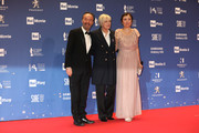 Roberto Benigni , Piera Detassis and Nicoletta Braschi attend the 64. David Di Donatello awards on March 27, 2019 in Rome, Italy.