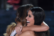 Miss Colombia 2015, Ariadna Gutierrez (L), is hugged by Miss Universe 2014 Paulina Vega after host Steve Harvey mistakenly named Gutierrez the new Miss Universe instead of first runner-up during the 2015 Miss Universe Pageant at The Axis at Planet Hollywood Resort & Casino on December 20, 2015 in Las Vegas, Nevada. Miss Philippines 2015, Pia Alonzo Wurtzbach, (not pictured) was eventually named the winner.