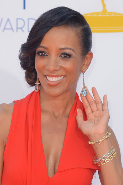 Television personality Shaun Robinson arrives at the 64th Annual Primetime Emmy Awards at Nokia Theatre L.A. Live on September 23, 2012 in Los Angeles, California.