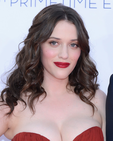 Kat Dennings  arrives at the 64th Annual Primetime Emmy Awards at Nokia Theatre L.A. Live on September 23, 2012 in Los Angeles, California.