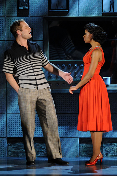 Chad Kimball and  Montego Glover perform onstage during the 64th Annual Tony Awards at  Radio City Music Hall on June 13, 2010 in New York City.