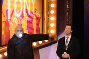 Actor Kevin Chamberlin with Host Sean Hayes onstage during the 64th Annual Tony Awards at Radio City Music Hall on June 13, 2010 in New York City.