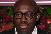 Edward Enninful, editor-in-chief of British Vogue attends the 65th Evening Standard Theatre Awards at London Coliseum on November 24, 2019 in London, England.