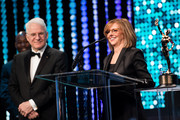 Actor Steve Martin and director Nancy Meyers speak onstage at the 66th Annual ACE Eddie Awards at The Beverly Hilton Hotel on January 29, 2016 in Beverly Hills, California.