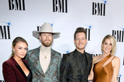 (L-R) Brittany Kelley, Brian Kelley, Tyler Hubbard and Hayley Hubbard attend the 66th Annual BMI Country Awards at BMI on November 13, 2018 in Nashville, Tennessee.