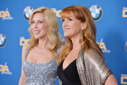 Kim Campbell (L) and actress Jane Seymour attend the 67th Annual Directors Guild Of America Awards at the Hyatt Regency Century Plaza on February 7, 2015 in Century City, California.