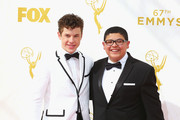 Actors Nolan Gould (L) and Rico Rodriguez attend the 67th Annual Primetime Emmy Awards at Microsoft Theater on September 20, 2015 in Los Angeles, California.
