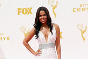 TV personality Tracey Edmonds attends the 67th Annual Primetime Emmy Awards at Microsoft Theater on September 20, 2015 in Los Angeles, California.