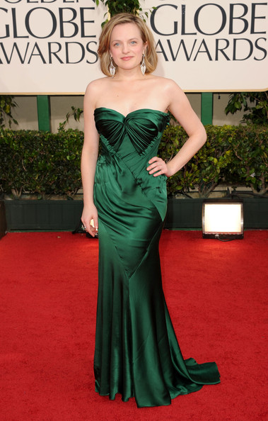 Actress Elisabeth Moss arrives at the 68th Annual Golden Globe Awards held at The Beverly Hilton hotel on January 16, 2011 in Beverly Hills, California.