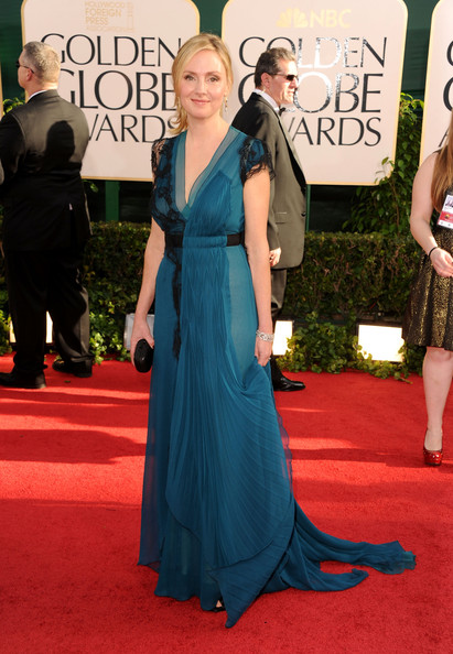 Actress Hope Davis arrives at the 68th Annual Golden Globe Awards held at The Beverly Hilton hotel on January 16, 2011 in Beverly Hills, California.