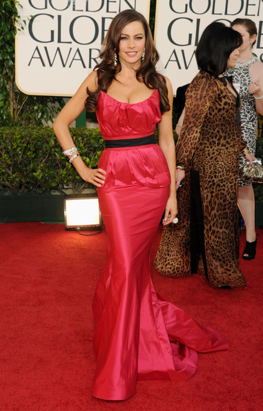 Actress Sofia Vergara arrives at the 68th Annual Golden Globe Awards held at The Beverly Hilton hotel on January 16, 2011 in Beverly Hills, California.