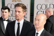 Actors Desmond Harrington (L) and C.S. Lee arrive at the 68th Annual Golden Globe Awards held at The Beverly Hilton hotel on January 16, 2011 in Beverly Hills, California.