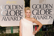 Actress Busy Phillips arrives at the 69th Annual Golden Globe Awards held at the Beverly Hilton Hotel on January 15, 2012 in Beverly Hills, California.