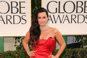 TV personality Kyle Richards arrives at the 69th Annual Golden Globe Awards held at the Beverly Hilton Hotel on January 15, 2012 in Beverly Hills, California.