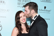 Liam McIntyre and Erin Hasan attend the 6th Annual Make-Up Artists & Hair Stylists Guild Awards at The Novo by Microsoft on February 16, 2019 in Los Angeles, California.