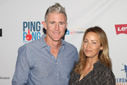 Chase Utley and Jennifer Utley attend the 6th Annual PingPong4Purpose at Dodger Stadium on August 23, 2018 in Los Angeles, California.