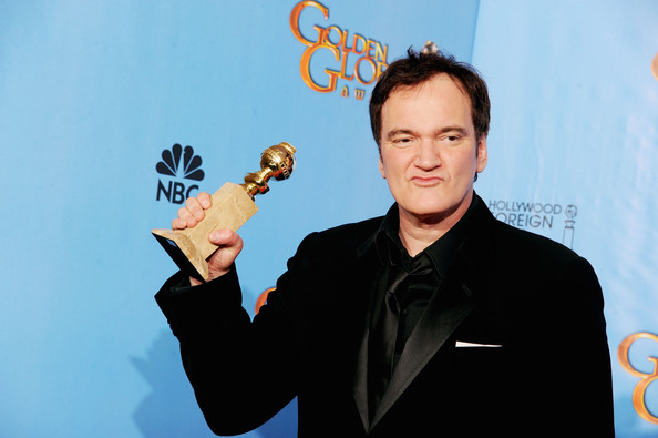 "Filmmaker Quentin Tarantino, winner of Best Director of a Motion Picture for ""Django Unchained,"" poses in the press room during the 70th Annual Golden Globe Awards held at The Beverly Hilton Hotel on January 13, 2013 in Beverly Hills, California."