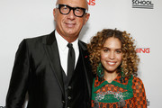 Gucci CEO Marco Bizzarri (L) and poet Cleo Wade attend the 70th Annual Parsons Benefit on May 21, 2018 in New York City.