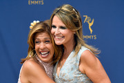 (L) Hoda Kotb and Savannah Guthrie attend the 70th Emmy Awards at Microsoft Theater on September 17, 2018 in Los Angeles, California.