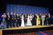 Cast and crew of Outstanding Limited Series winners 'The Assassination of Gianni Versace: American Crime Story' pose in the press room during the 70th Emmy Awards at Microsoft Theater on September 17, 2018 in Los Angeles, California.