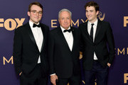(L-R) Henry Michaels, Lorne Michaels and Edward Michaels attend the 71st Emmy Awards at Microsoft Theater on September 22, 2019 in Los Angeles, California.
